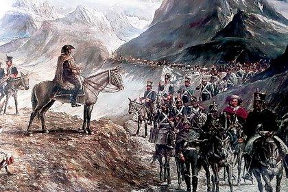 Un día como hoy San Martín inició el cruce de Los Andes