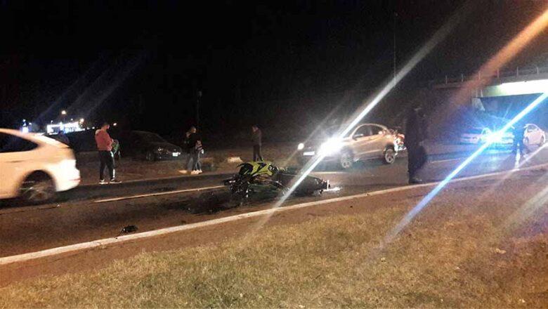Un motociclista resultó herido en el Acceso Sur