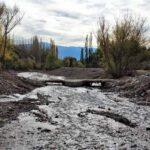 Limpiaron el último tramo del arroyo Las Mulas de Potrerillos