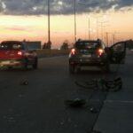 Un ciclista fue atropellado en el Acceso Sur