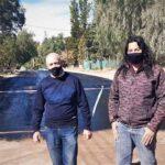 Rubén Lázaro recorrió obra de asfalto gestionada junto a vecinos